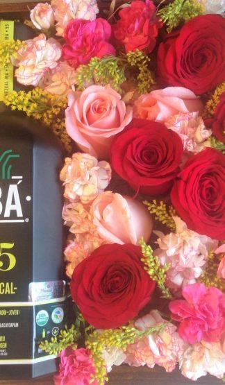 Mezcal IBA 55 Orgánico y Rosas Día de la Madre
