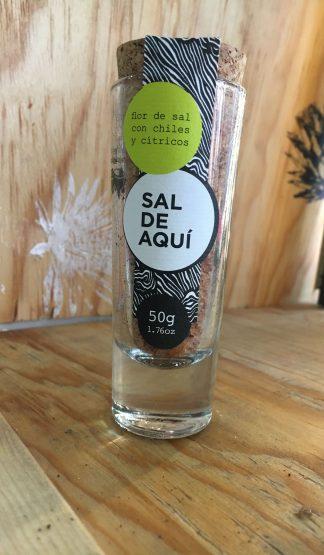 sal de aquí cítricos y chile flor de sal