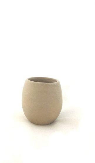 vaso mezcalero barro blanco barril oaxaca