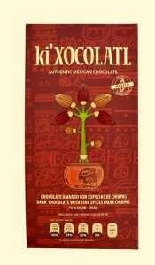 ki xocolatl chocolate amargo y especias, cacao criollo,chocolate mexicano