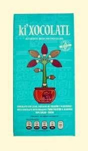 chocolate ki xocolatl chocolate oregano y almendras, cacao criollo, chocolate mexicano